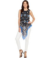 Vince Camuto - Sleeveless Nairobi Graphic Handkerchief Blouse