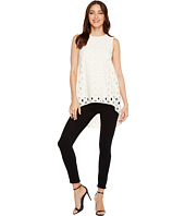 Vince Camuto - Sleeveless Cable Lace High-Low Hem Blouse