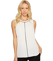 Vince Camuto - Sleeveless Color Block Blouse with Contrast Piping