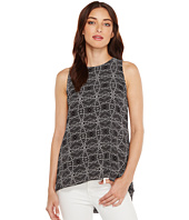 Vince Camuto - Sleeveless Yoruba Graphic High-Low Hem Blouse