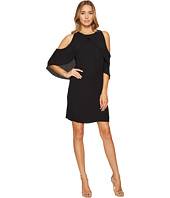 Vince Camuto - Cross Over Ruffled Cold-Shoulder Dress