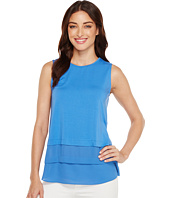 Vince Camuto - Sleeveless Mix Media Layered Top