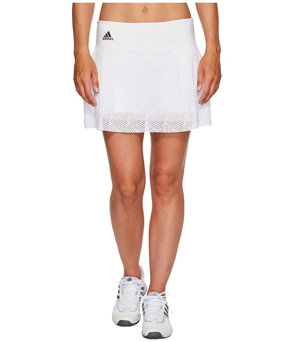 adidas London Line 13 Skirt (White/Night Metallic) Women