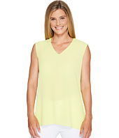 Vince Camuto - Extend Shoulder V-Neck Mix Media Textured Top
