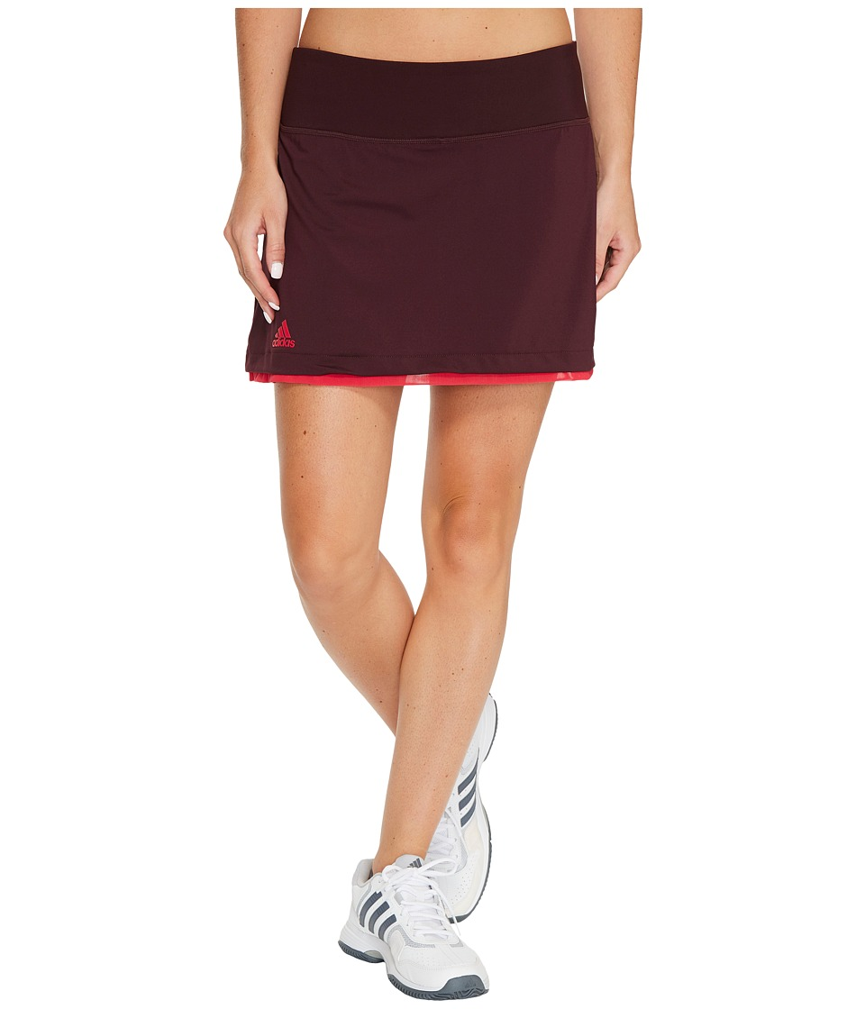 adidas - US Series Skirt (Dark Burgundy/Energy Pink) Women's Skort