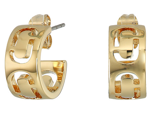 Marc Jacobs Icon Cut Out Small Hoop Earrings