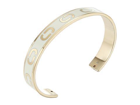 Marc Jacobs Icon Enamel Cuff Bracelet - Cream
