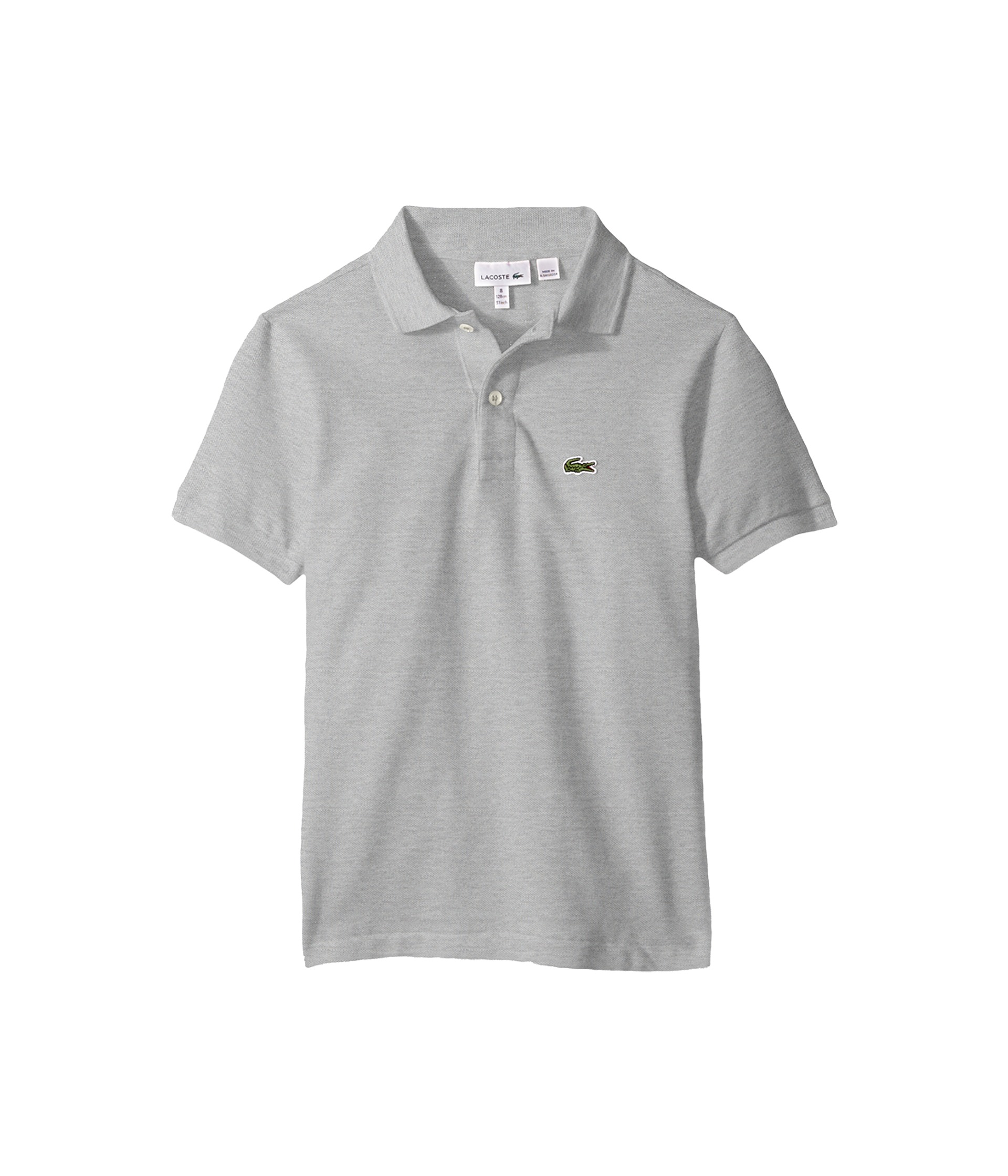 Lacoste kids l1812 short sleeve classic pique polo for Lacoste size 4 polo shirt