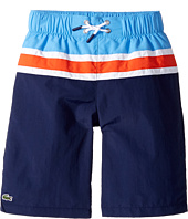 Lacoste Kids - Color Block Stripe Swimsuit (Little Kids/Big Kids)