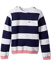Lacoste Kids - Crew Neck Stripe Sweater (Toddler/Little Kids/Big Kids)