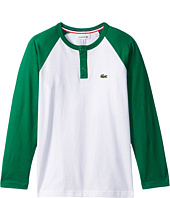 Lacoste Kids - Long Sleeve Baseball Color Block Tee (Little Kids/Big Kids)