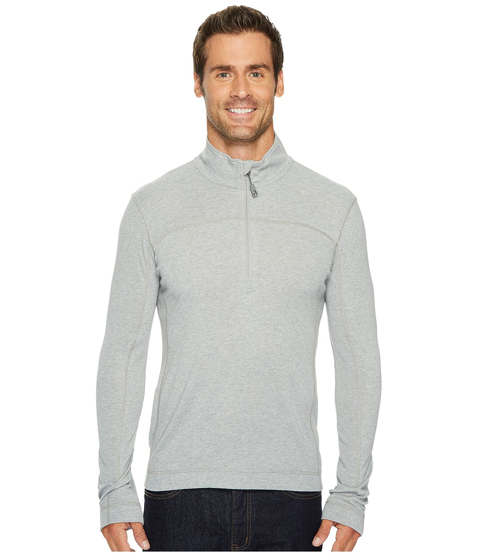 Toad&Co - Pacer Slim Long Sleeve 1/4 Zip (Light Ash) Mens Clothing