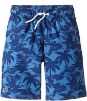 Lacoste Kids - Palm Tree Print Swimsuit (Little Kids/Big Kids)