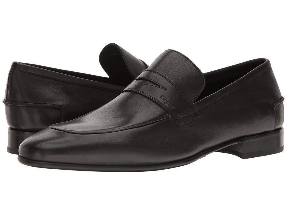 Salvatore Ferragamo Penny Loafer (Black) Men's Shoes