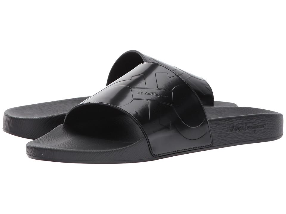 Salvatore Ferragamo Dash Sandal (Black) Men
