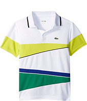 Lacoste Kids - Sport Geometric Stripe Ultradry Polo (Little Kids/Big Kids)