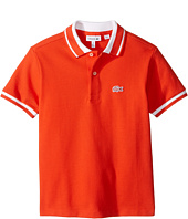Lacoste Kids - Short Sleeve Candy Stripe Croc Polo (Infant/Toddler/Little Kids/Big Kids)