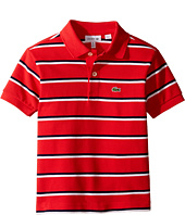 Lacoste Kids - Short Sleeve Fine Stripe Pique Polo (Toddler/Little Kids/Big Kids)