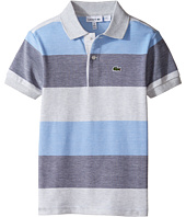 Lacoste Kids - Short Sleeve Heather Bar Stripe Polo (Little Kids/Big Kids)