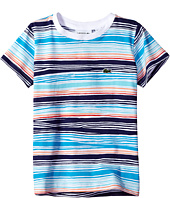 Lacoste Kids - Short Sleeve Irregular Stripe Tee (Little Kids/Big Kids)