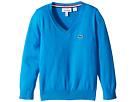 Lacoste Kids - V-Neck Cotton Sweater (Toddler/Little Kids/Big Kids)