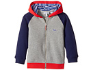 Lacoste Kids - Small Hoodie Color Block Sweatshirt (Toddler/Little Kids/Big Kids)