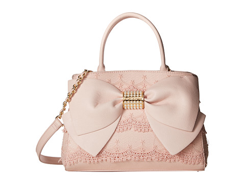 Betsey Johnson Pearl Of A Girl Lace Bow Satchel