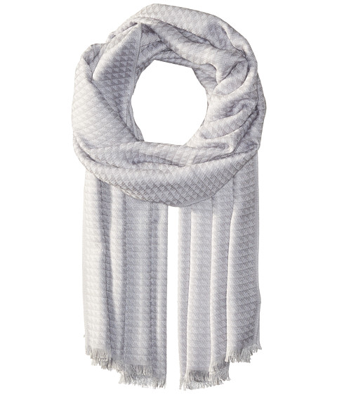 CALVIN KLEIN Yarn-Dye Pashmina in Gray