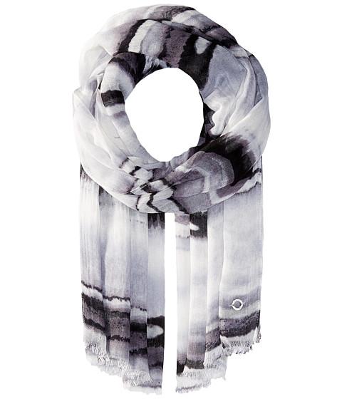 Calvin Klein Watercolor Linen Like Stripe - Black