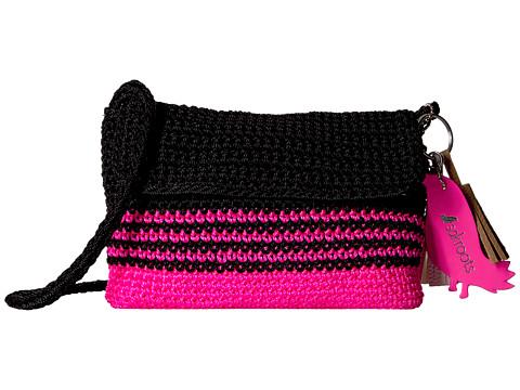 Sakroots Artist Circle Flap Crossbody - Neon Pink Cabana Stripe