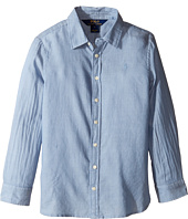 Polo Ralph Lauren Kids - Lightweight Cotton Button Front Shirt (Little Kids)