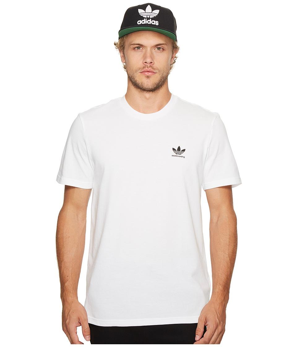 adidas Skateboarding Clima 2.0 Tee (White) Men