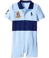 Ralph Lauren Baby - Classic Mesh Banner Polo Shortalls (Infant)