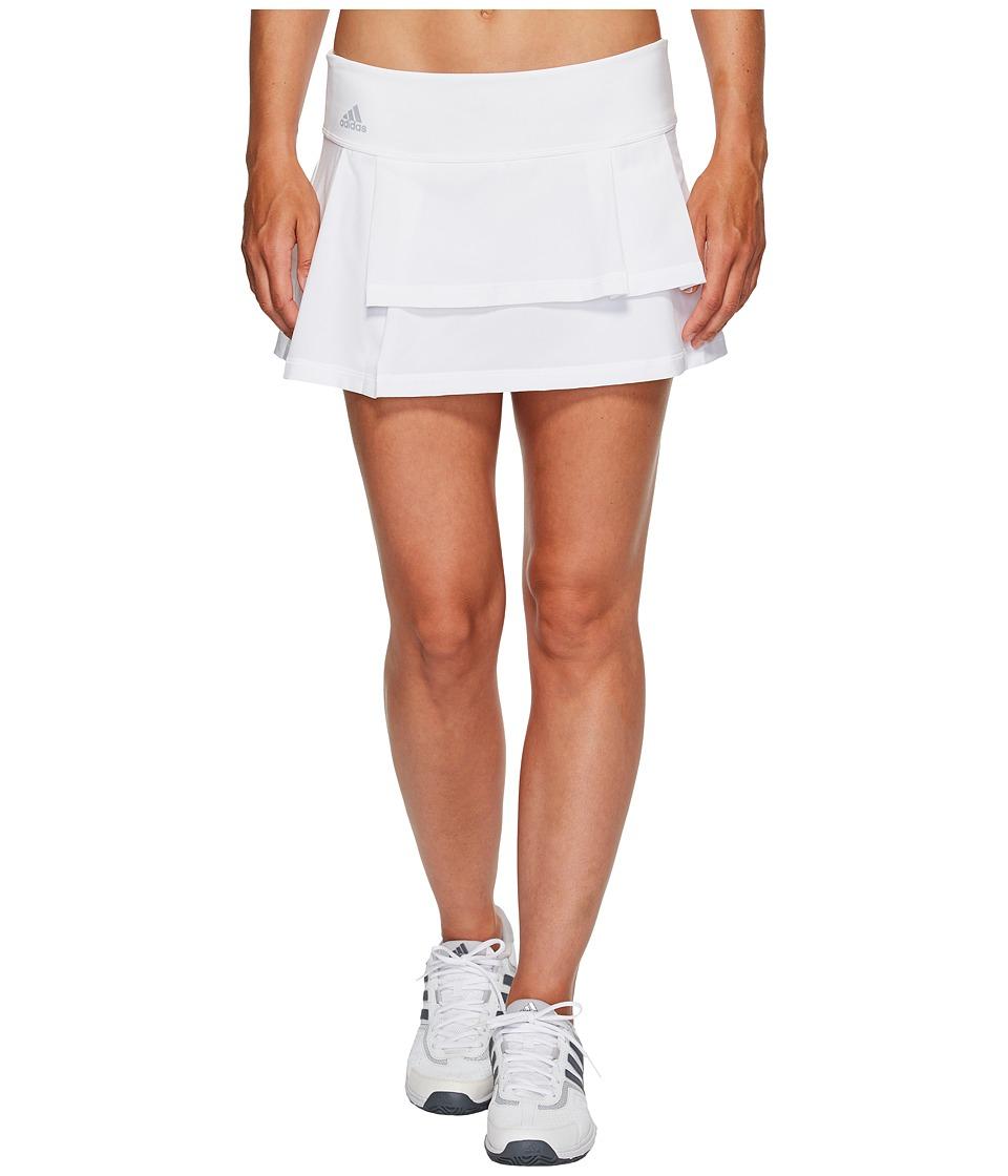 adidas Advantage Layered Skirt (White/Clear Onix) Women