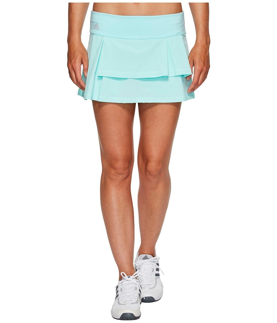 adidas Advantage Layered Skirt (Energy Aqua/Clear Onix) Women
