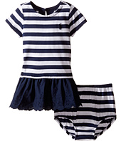 Ralph Lauren Baby - Cotton Stripe Eyelet Dress (Infant)