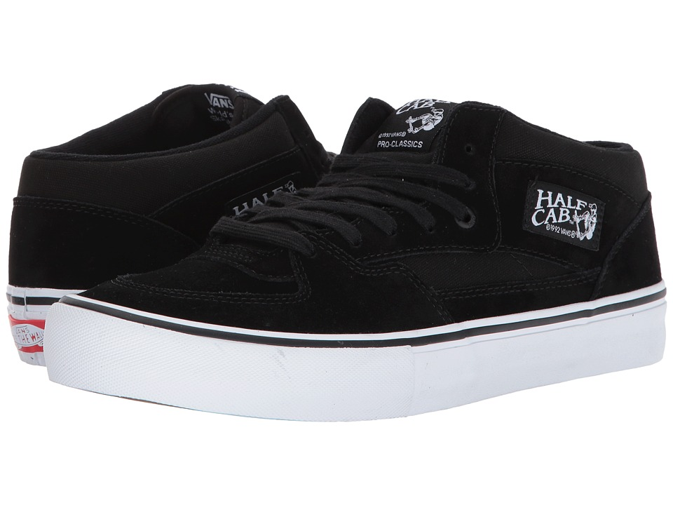 Vans - Half Cab(r) Pro (Black/Black/White) Mens Skate Shoes