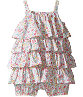 Ralph Lauren Baby - Printed Cotton Tiered Bubble Shortalls (Infant)