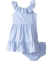 Ralph Lauren Baby - Seersucker Ruffle Dress (Infant)