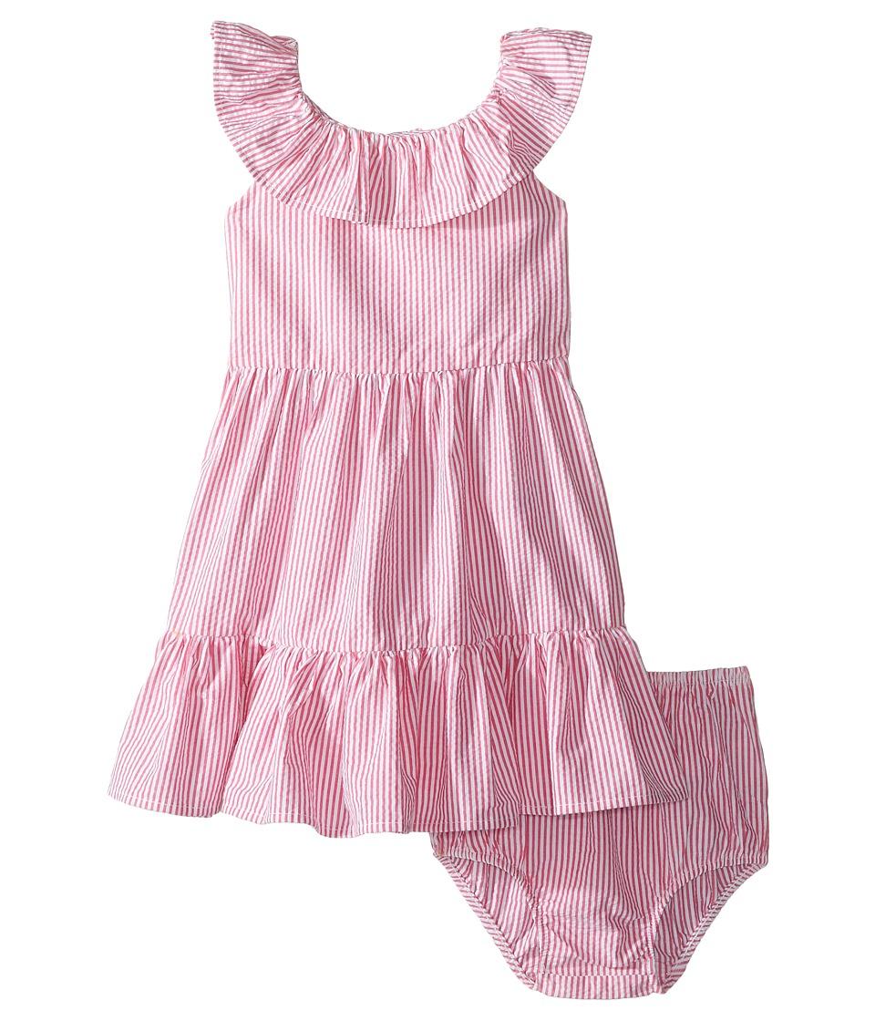 Vintage Style Children's Clothing: Girls, Boys, Baby, Toddler Ralph Lauren Baby - Seersucker Ruffle Dress Infant PinkWhite Girls Dress $55.00 AT vintagedancer.com