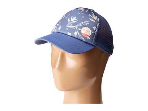 Roxy Just Ok Trucker Hat - Bleached Denim Botanic