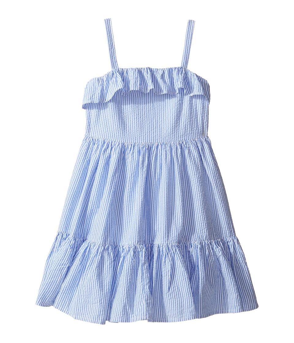 Kids 1950s Clothing & Costumes: Girls, Boys, Toddlers Polo Ralph Lauren Kids - Seersucker Dress Little Kids BlueWhite Girls Dress $59.50 AT vintagedancer.com