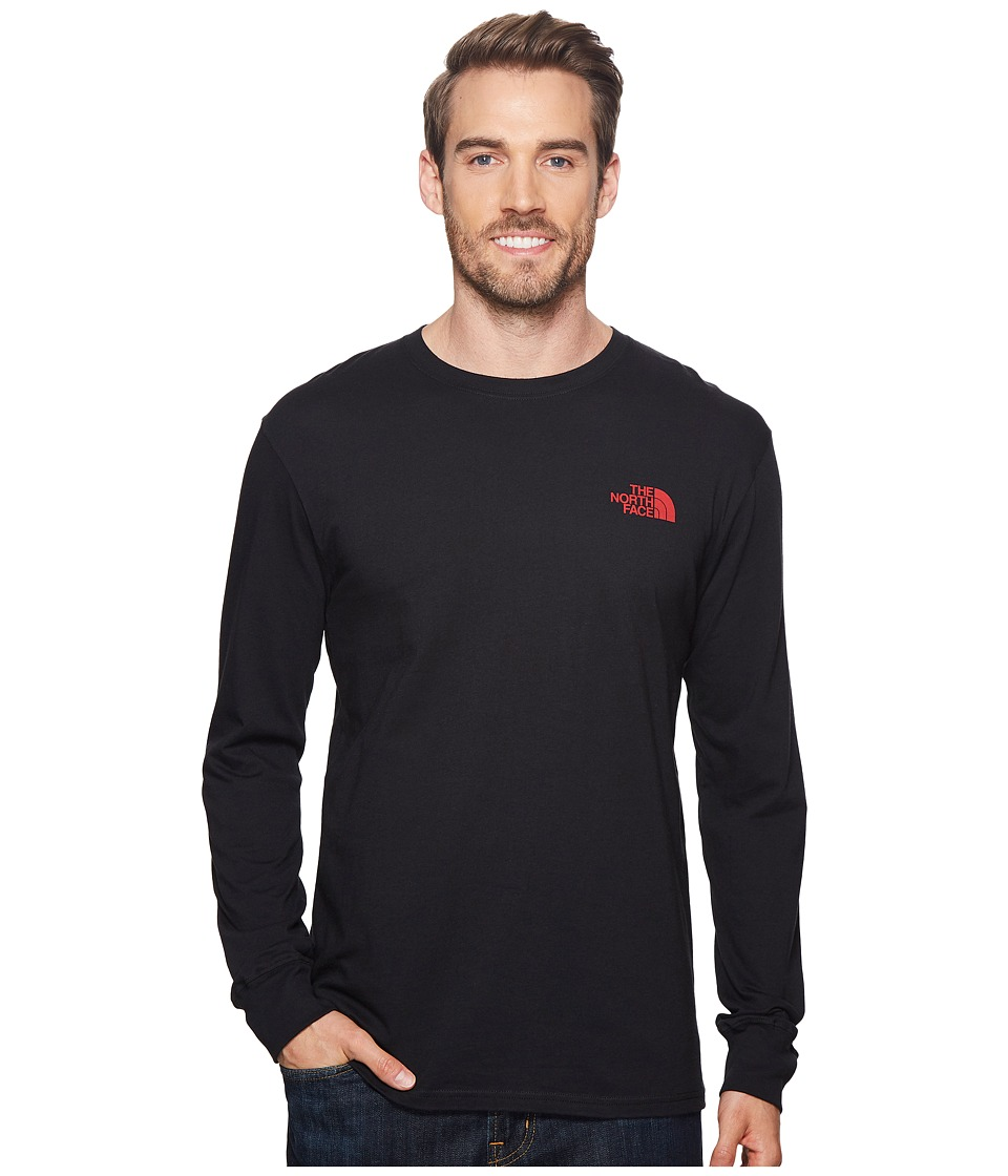 The North Face - Long Sleeve Red Box Tee (TNF Black/TNF Red) Mens Long Sleeve Pullover