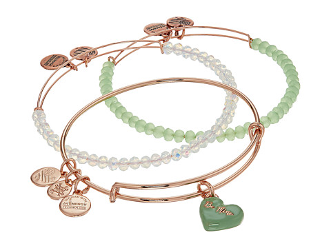 Alex and Ani Love Is In The Air - Sweet Set of Three - Shiny Rose Gold Finish