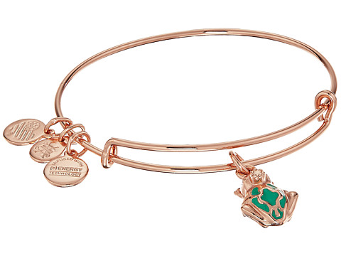 Alex and Ani Love Is In The Air - Frog Prince Charm Bangle - Shiny Rose Gold Finish