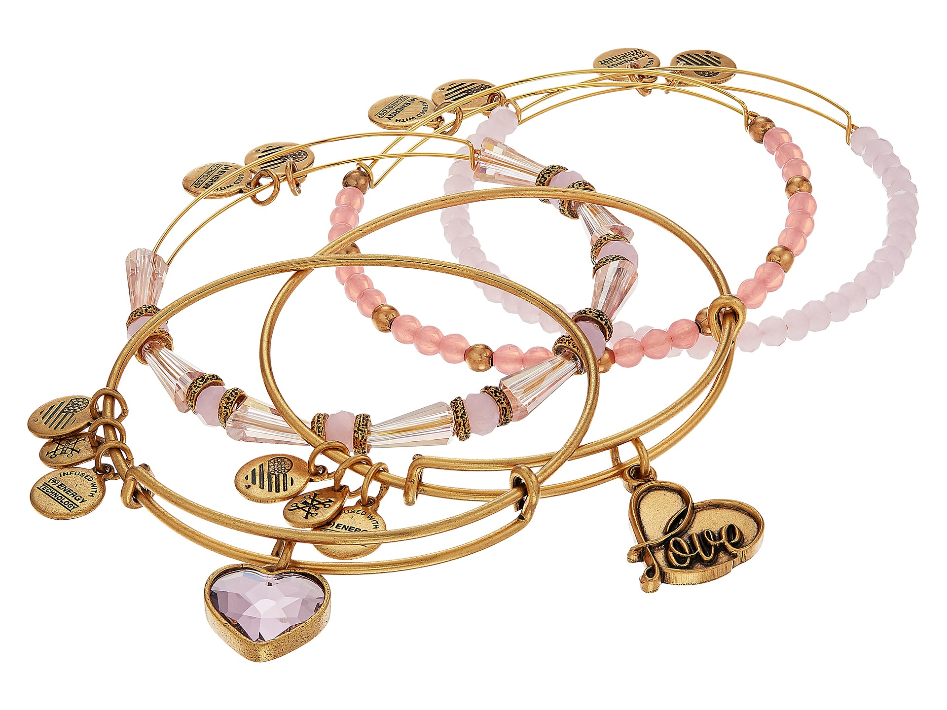 Alex and ani love is in the air alive with love set of for The universe conspires jewelry