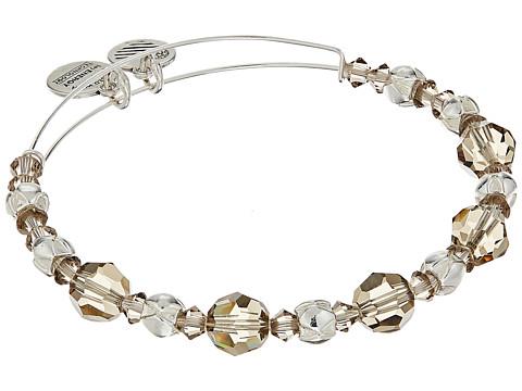 Alex and Ani Moon Beaded Bangle with Swarovski Crystals - Shiny Silver Finish