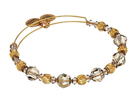 Alex and Ani Moon Beaded Bangle with Swarovski Crystals - Shiny Gold Finish