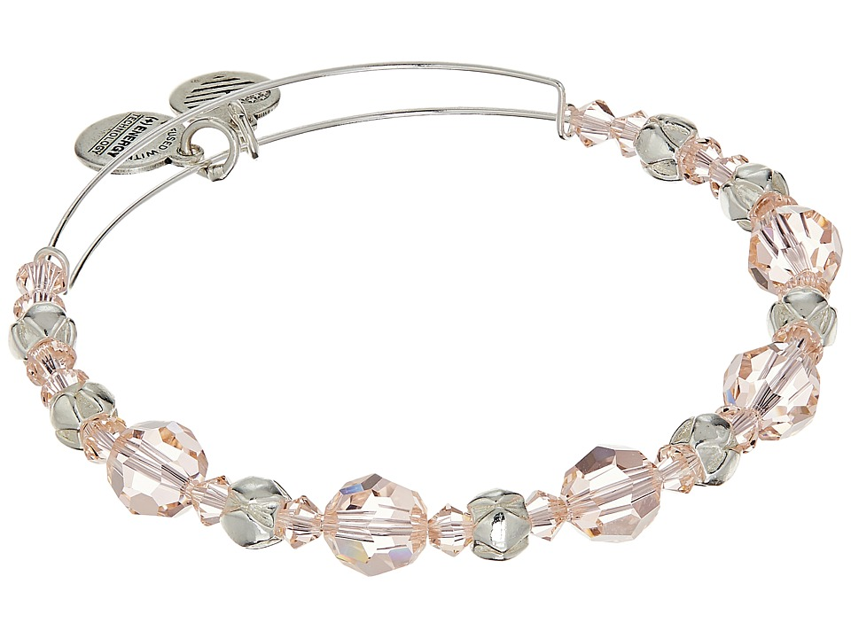 Alex and Ani - Blush Beaded Bangle with Swarovski Crystals