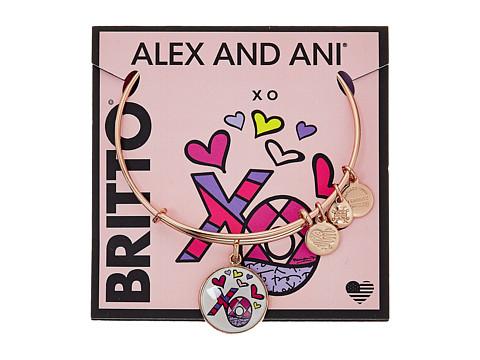 Alex and Ani XO Art Infusion Charm Bangle - Romero Britto - Shiny Rose Gold Finish